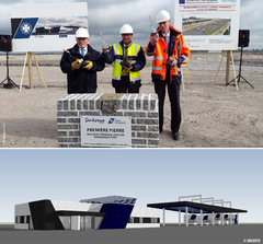 DUNKERQUE-PORT: LAYS FIRST STONE OF NEW CROSS-CHANNEL TERMINAL