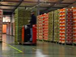 Entrepôt logistique de produits frais