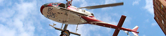 Descente d'hélicoptère d'un pilote